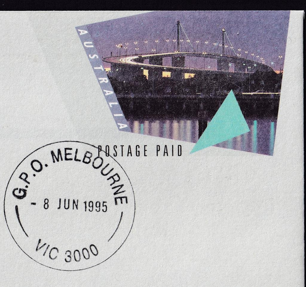 Postmarked GPO Melbourne cds on fdi - 8th June 1995.