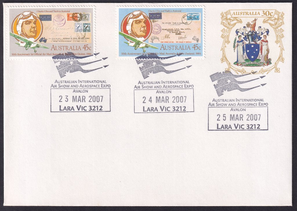 Australian International Air Show & Aerospace Expo, new Lara permanent pictorial postmark - 23rd, 24th & 25th March 2007 (last day of 2007 event)