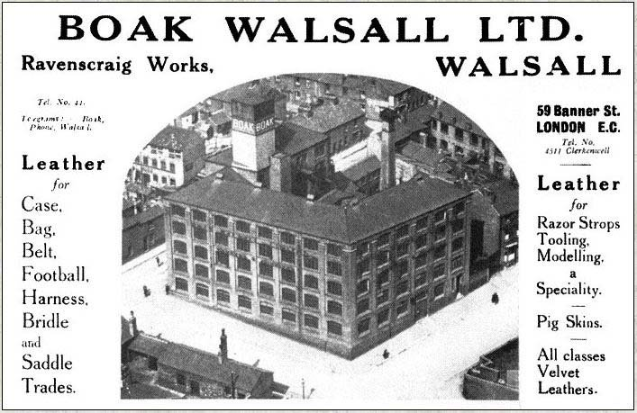 Advertisement for Boak Walsall Ltd.