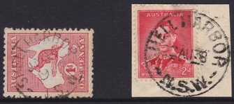 Two different Shellharbour NSW postmarks.