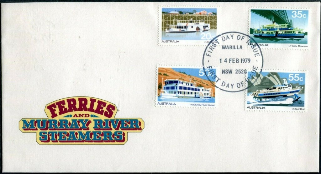 Murray River Ferries & Steamers FDC. Warilla FDI postmark. 1979.
