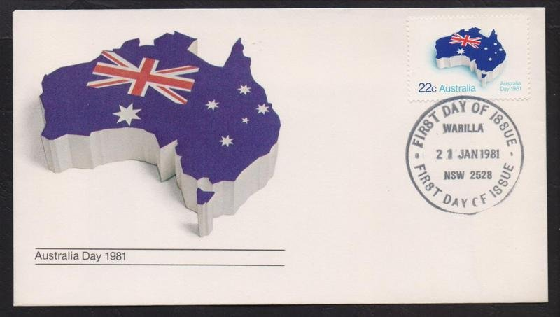 Australia Post Australia Day 1981 fdc postmarked Warilla fdi - 21st January 1981.