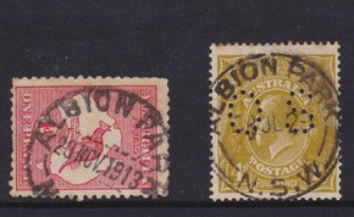 Two different Albion Park postmarks.