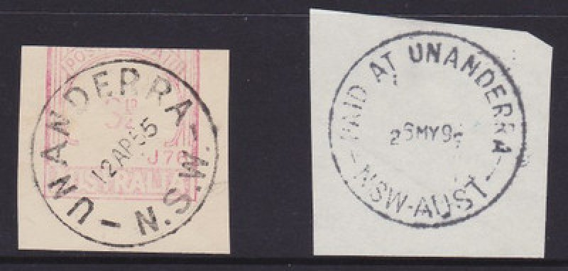 Two different Unanderra postmarks.