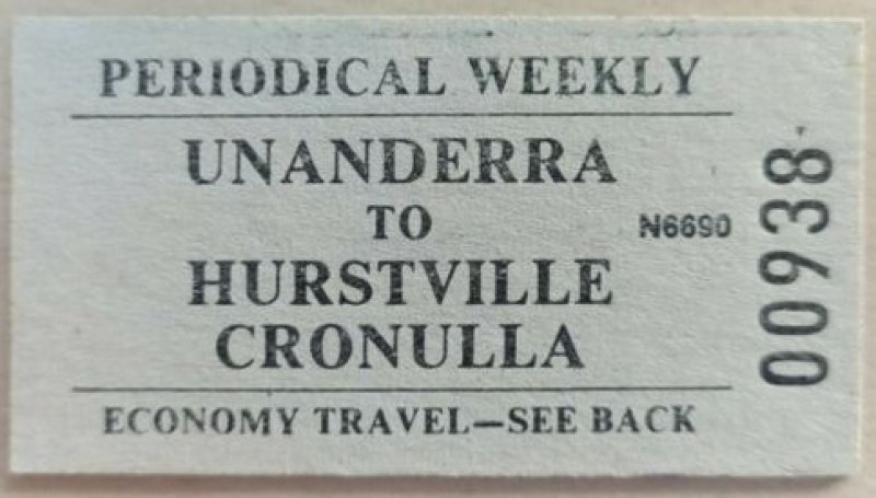 Weekly train ticket.