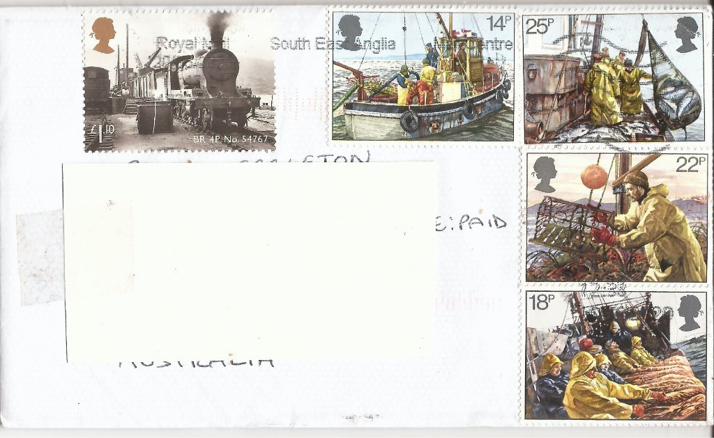 .<br />UK cover, mailed c.17 May 2020, arrived Newcastle NSW 22 June 2020.