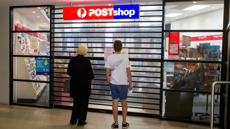 Wollongong Post Shop. Closed today.
