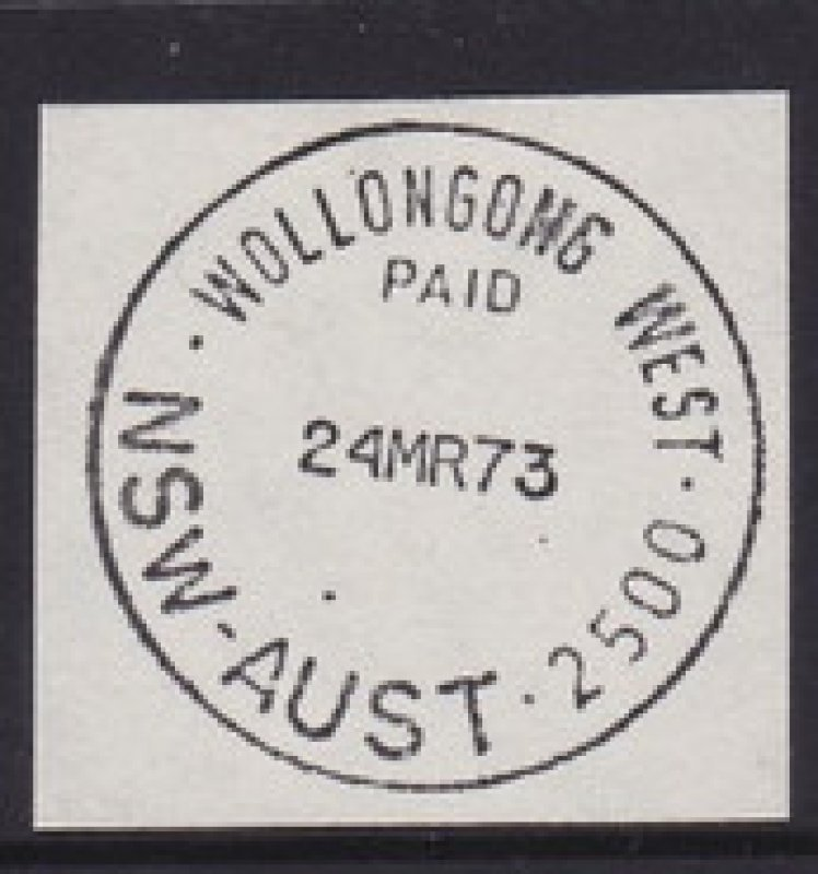 Paid. Wollongong West. NSW-AUST 2500. 1973.