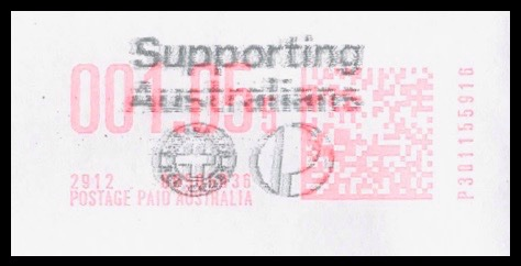 Supporting Australians postmark
