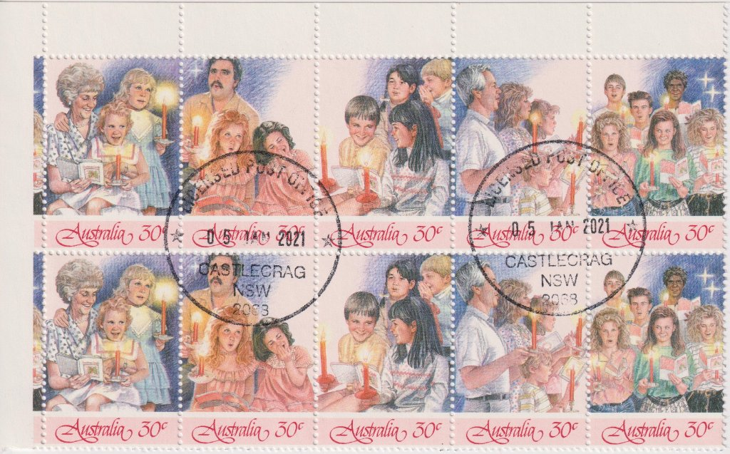 stamps with Castlecrag CDS