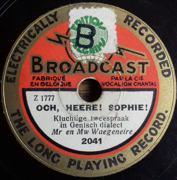 "Pelgrims green large ""B"" on Broadcast 78rpm"