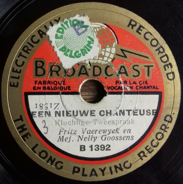 "Pelgrims green small ""B"" on Broadcast 78rpm"