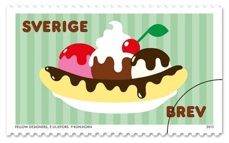 Sweden 2011 banana split coil stamp