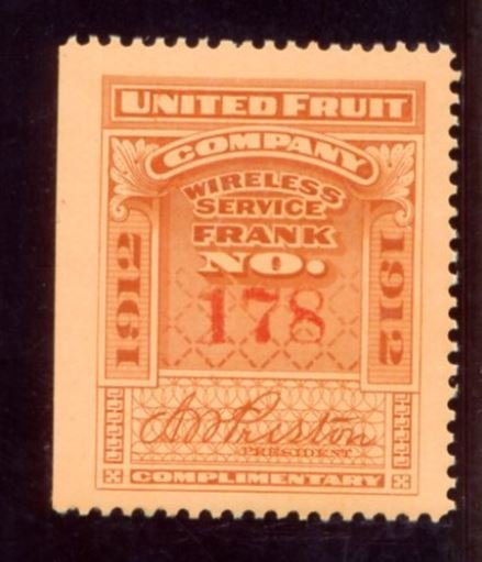 United Fruit Company stamp