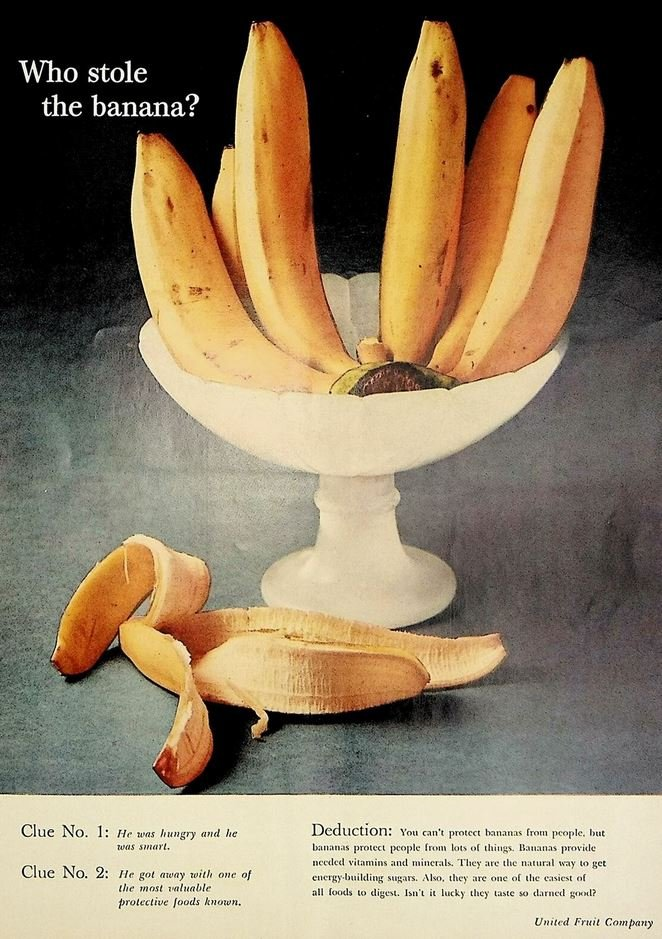 United Fruit Company banana advertising