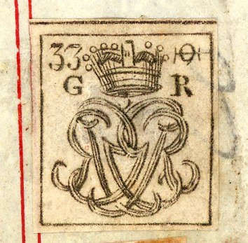 George III cypher label