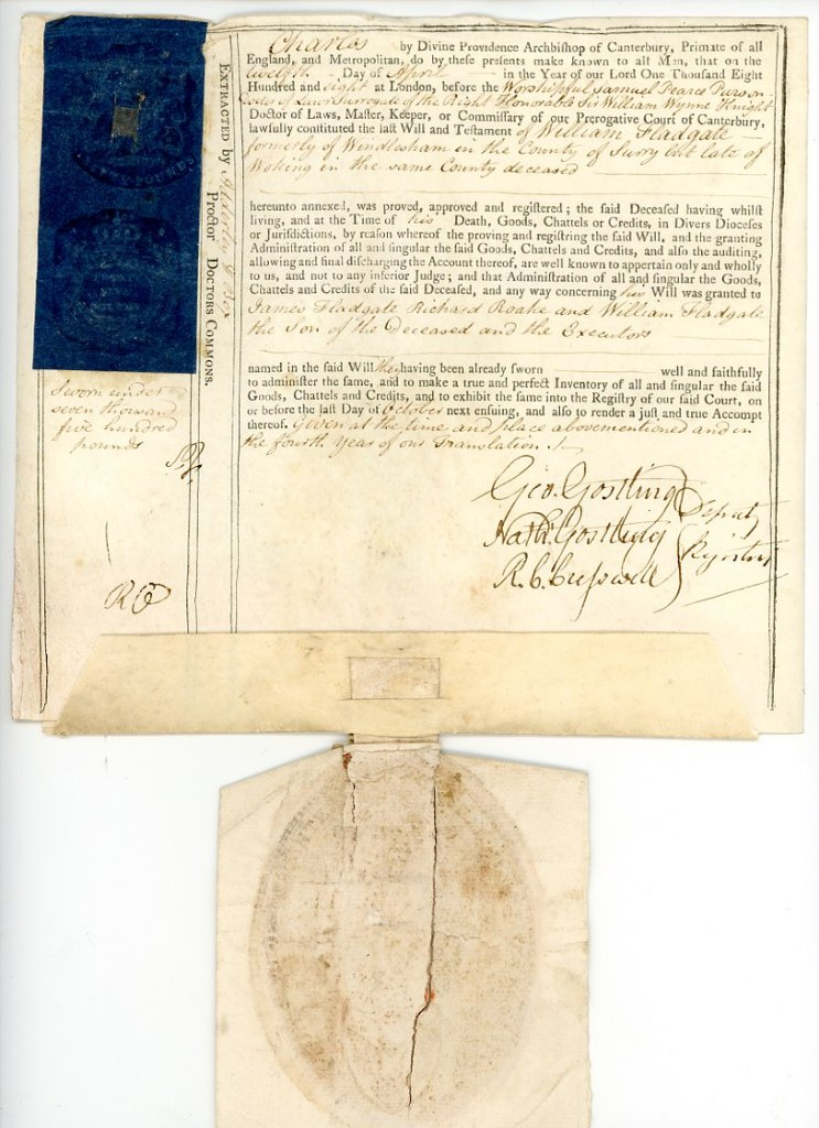 Canterbury prerogative court document 1808