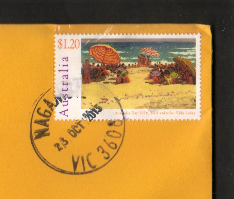 So The Tape Went Over Stamp Postmark