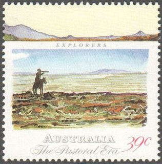 Australia SG 1207 39 Cent Explorer In Desert After Watercolor By Edward Frome Perf 14 1 2 Issued 10 May 1989