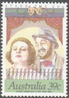 Australia SG 1208 39 Cent Gladys Moncrieff And Roy Rene Perf 14 1 2 Issued 12 July 1989