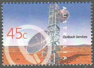 Australia SG 2108 45 Cent Telecommunications Tower Perf 14 X 1 2 Issued 5 June 2001