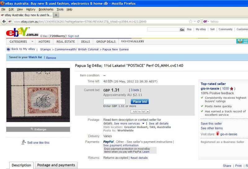 Lakatoi Perf Os Is It Genuine Postage Stamp Chat Board Stamp Forum
