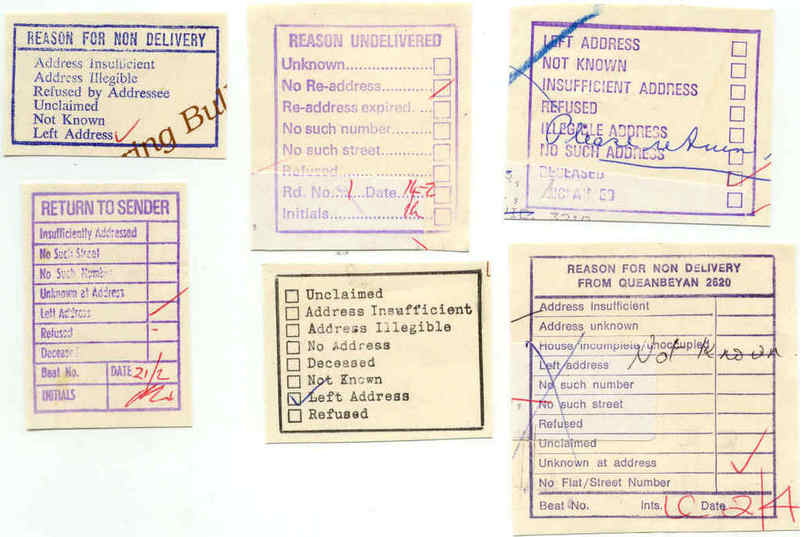 Here Is A Sample Of Boxes Used For Return To Sender In The 1980s