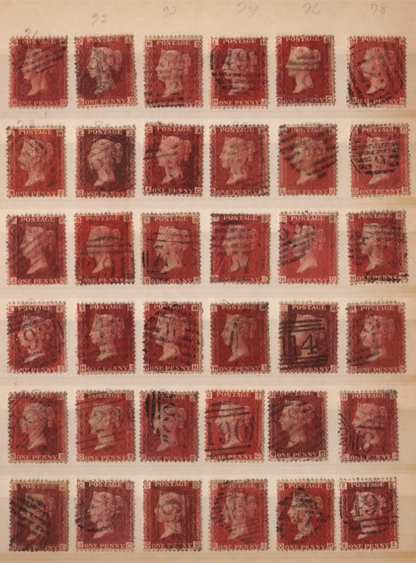 penny red stamps