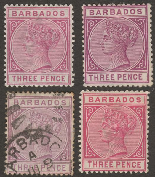Barbados Caribbean Modest Small Collection Of Stamp Stamps